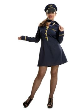 disfraz de piloto de avion para mujer