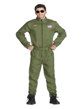disfraz de piloto de combate hombre