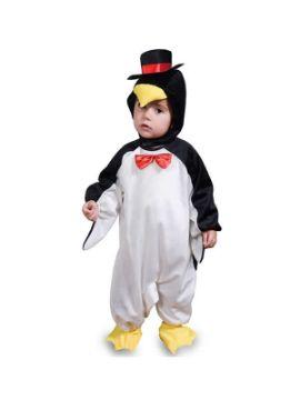 disfraz de pinguino con sombrero bebe