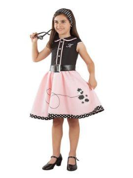 disfraz de pink lady años 50 para niña