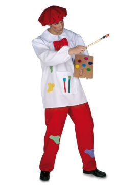 disfraz de pintor de cuadros hombre adulto