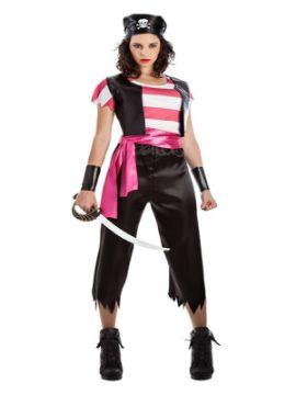 disfraz de pirata chaleco mujer