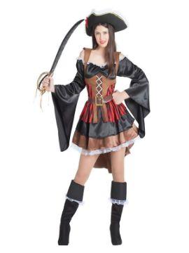 disfraz de pirata con volantes para mujer