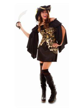 disfraz de pirata dorado para mujer