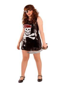 disfraz de pirata lentejuelas para mujer