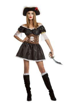 disfraz de pirata negra mujer