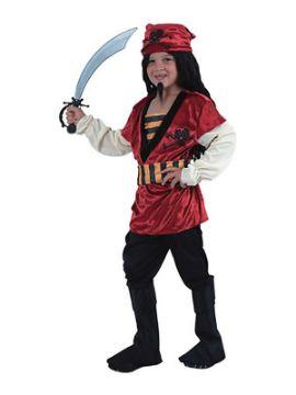 disfraz de pirata rojo para niño