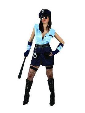 disfraz de policia americana mujer