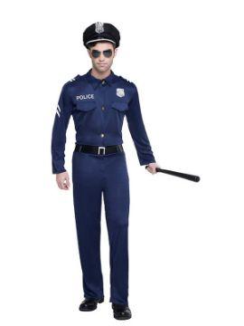 disfraz de policia azul hombre