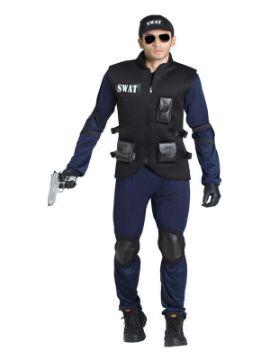 disfraz de policia swat hombre adulto