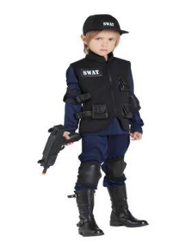disfraz de policia swat niño