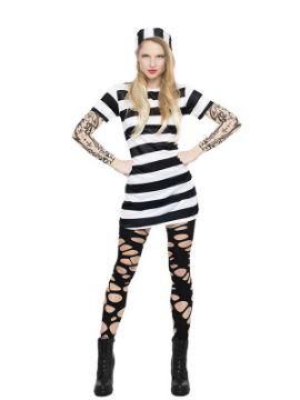 disfraz de presa con tattoo mujer