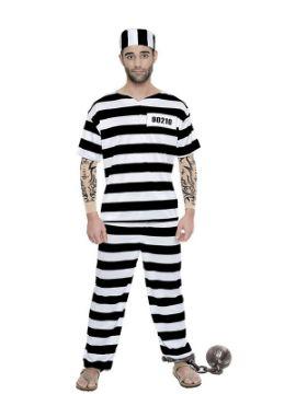 disfraz de preso con tattoo hombre