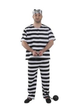 disfraz de preso hombre adulto