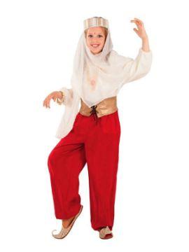 disfraz de princesa arabe roja niña