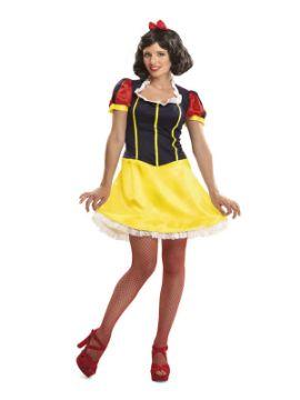 disfraz de princesa blancanieves sexy mujer