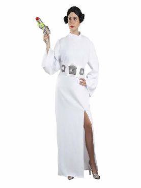 disfraz de princesa espacio leia mujer