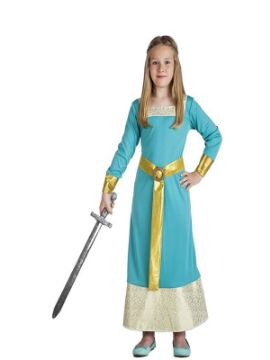 disfraz de princesa medieval azul niña
