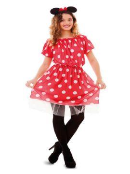 disfraz de ratoncita con topos mujer