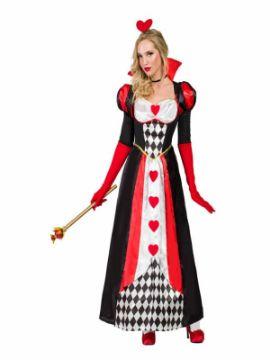 disfraz de reina corazones deluxe para mujer