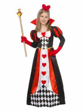 disfraz de reina corazones para niña