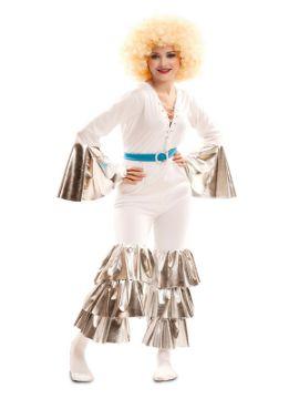disfraz de reina de la pista blanco mujer