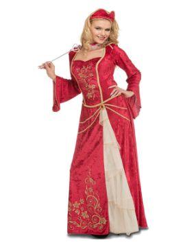 disfraz de reina medieval elegante mujer