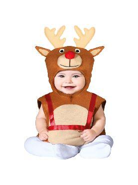 disfraz de reno navideño para bebe