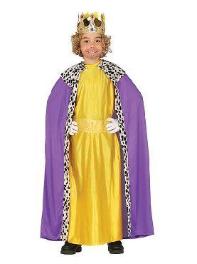 disfraz de rey mago amarillo para niño