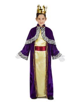 disfraz de rey mago baltasar para niño