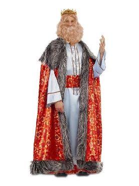 disfraz de rey mago melchor brocado hombre