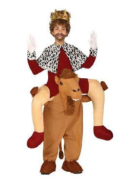 disfraz de rey mago montando en camello infantil