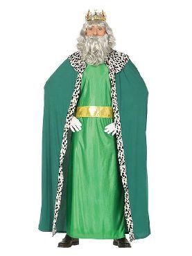 disfraz de rey mago verde para hombre