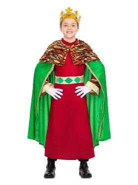 disfraz de rey mago verde para niño