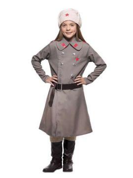 disfraz de rusa gris para niña
