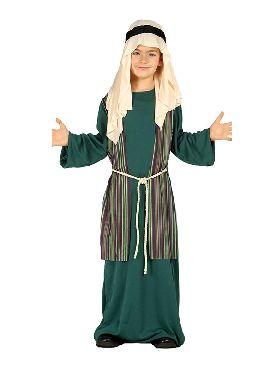 disfraz de san jose verde para niño