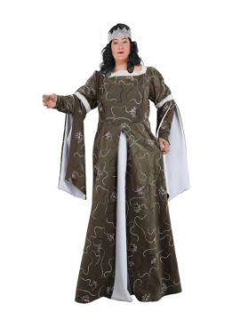 disfraz de señora medieval talla grande para mujer