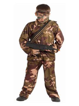 disfraz de soldado camuflaje niño