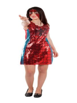 disfraz de spider woman lentejuelas mujer
