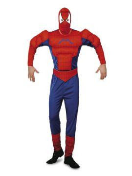 disfraz de spiderman musculoso hombre