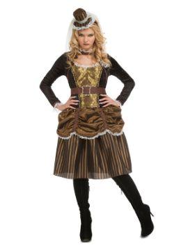disfraz de steampunk dorado para mujer