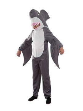 disfraz de tiburon gris hombre