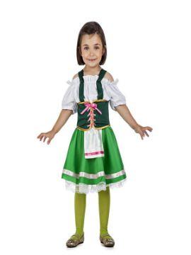 disfraz de tirolesa verde para niña