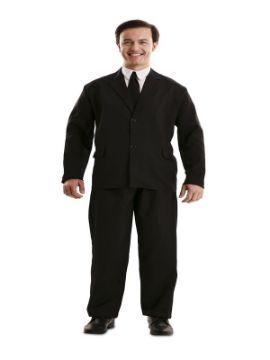 disfraz de traje negro para adulto