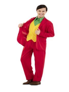 disfraz de traje rojo para hombre