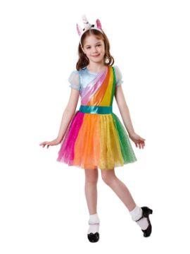 disfraz de unicornio multicolor niña
