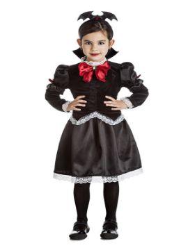 disfraz de vampira gotica oscura niña