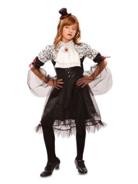 disfraz de vampiresa oscura para niña