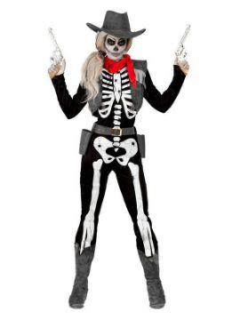 disfraz de vaquera esqueleto mujer