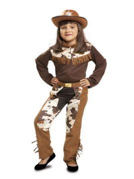 disfraz de vaquera marron para niña